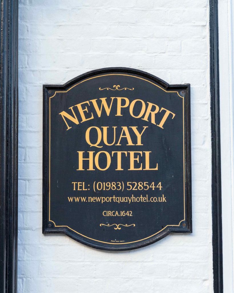 Newport Quay Hotel Entrance Sign
