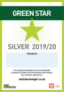Silver Green Star Award - Isle of Wight tourism rating